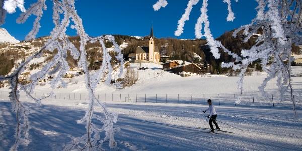 Einmalig: Langlaufen unterhalb der berühmten Wallfahrtskirche