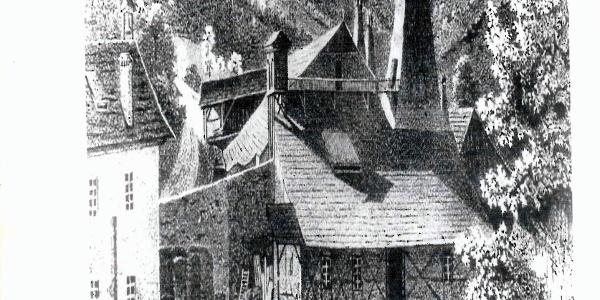 """Schmelzanlage in """"Hammer"""" um 1800"""