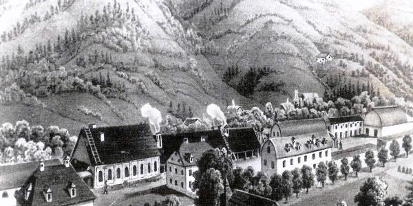 Eisenwerk in Frantschach um 1840