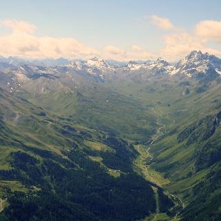 Luftbild des Fimbertals