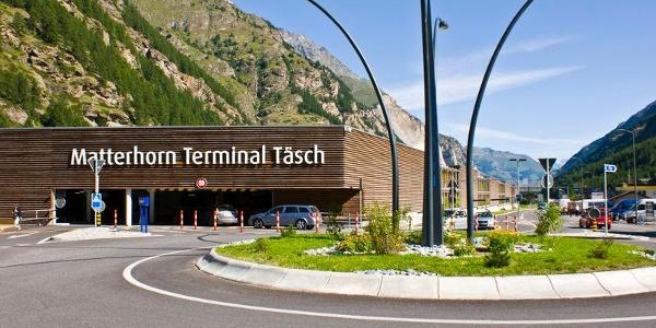 The Matterhorn Terminal in Täsch is the final stop for cars; traffic-free Zermatt is only another 12 minutes away.