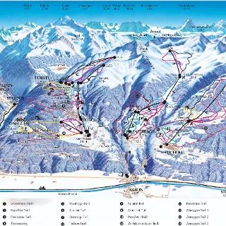 Panoramakarte Winter Bürchen