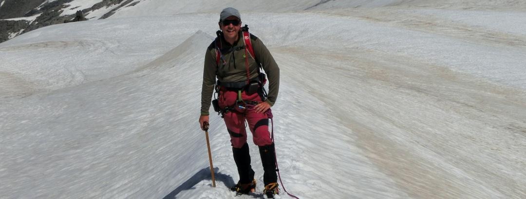 letzter Anstieg auf dem Gletscher