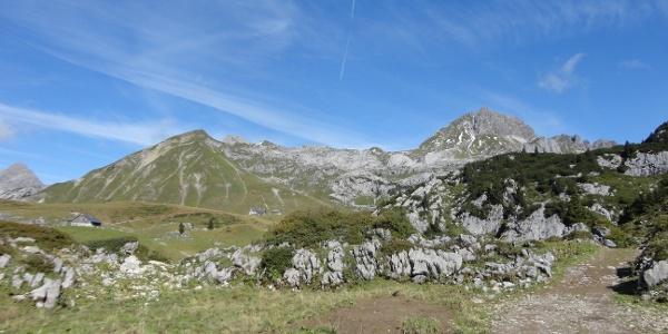 Biberacher Hütte, Hohe Künzelspitze und Glattjöchle