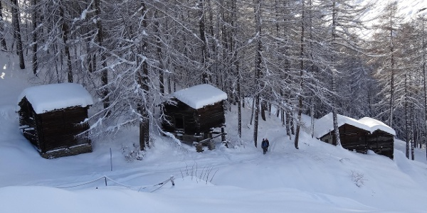 The winter hiking trail just before Ried