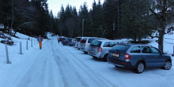 Parkplatz 100 m vor der Bosruckhütte