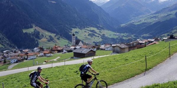 Biker in Lumbrein