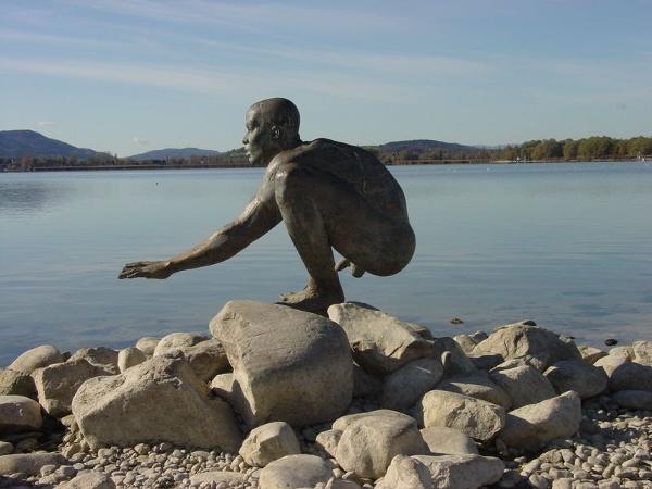 El Nino-Statue an der Radolfzeller Hafenmole