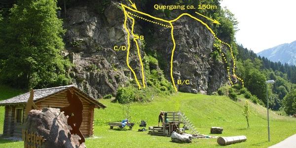 Klettersteig und Klettergarten Rifa
