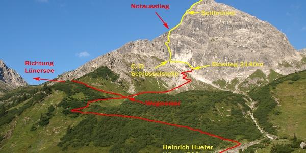 Klettersteig Saulakopf Ostwand