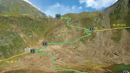 Übersichtsplan der Infopunkte von Seemoos bis Schneeberg