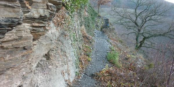 Pfadabschnitt am Collis-Steilpfad