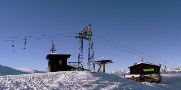 Start an der Bergstation des Birgitzköpflliftes.