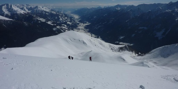 Blick vom Gipfel ins Möll- und Drautal