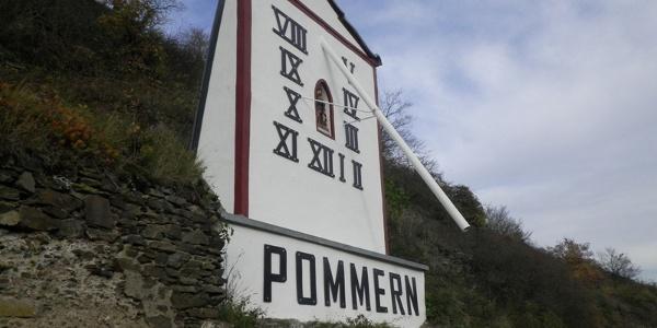 Sun dial near Pommern