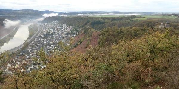 Looking from the Rosenberg across to Kobern-Gondorf