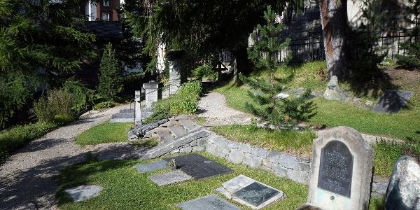 Mountaineers' cemetery below the church