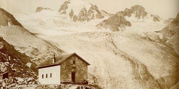 Die Jamtalhütte im Jahr 1882