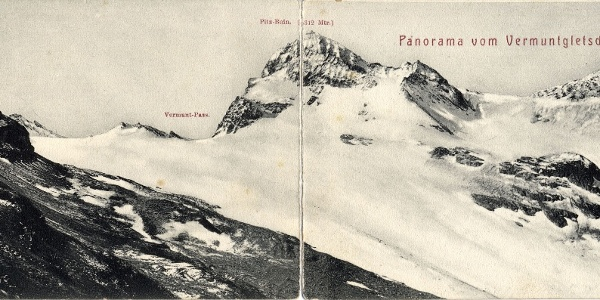 Vermuntgletscher und Ochsentaler Gletscher um 1900