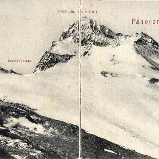 Vermunt Pass mit Vermunt- und Ochsentaler Gletscher um 1900