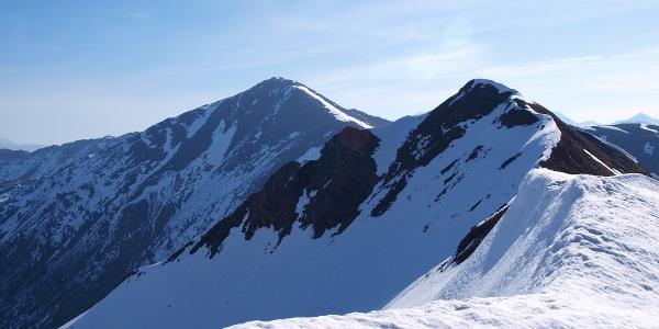 Hochrettelstein 2220 m vom Kamm 2045 m