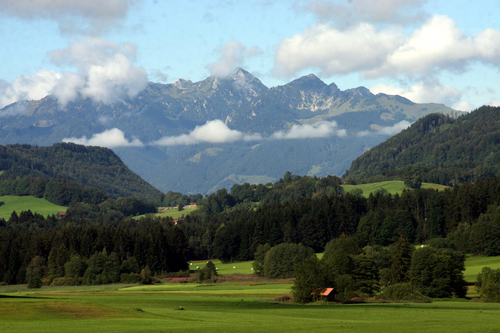 Blick nach Westen zum Wendelstein von Mitterhof aus