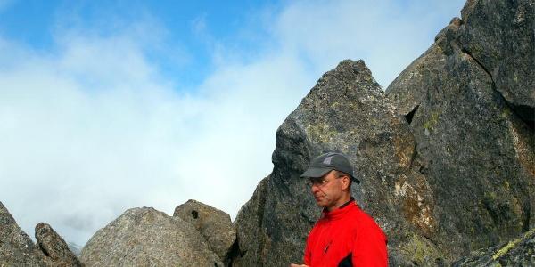 3009 m, einer der seltenen Bergsteiger