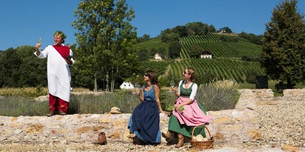 Weinverkostung an der Villa Rustica